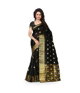 Cotton Banarasi Silk Saree