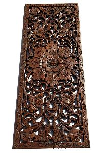 Floral Wooden Carved Wall Panel