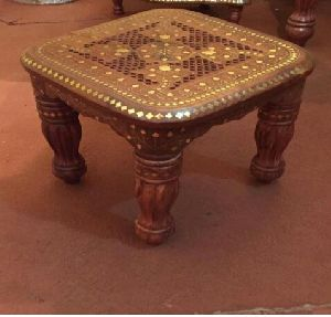 Wooden Carved Small Table