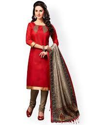 Designer Cotton Churidar Suit