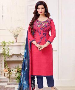 Khadi Cotton Churidar Suit