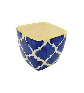 Decokrafts Moroccan Ceramic Painted Flower Pots