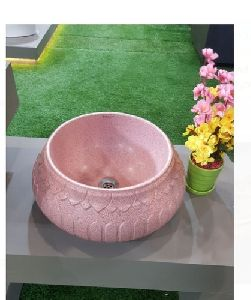 Pink Ceramic Wash Basin
