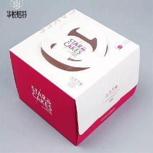 Custom 4 inch Square Birthday Cake Box
