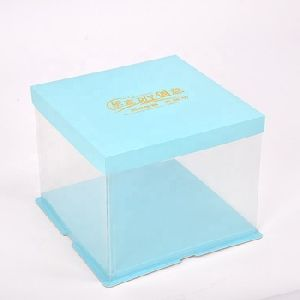 Transparent Plastic Pvc Fondant Cake Box