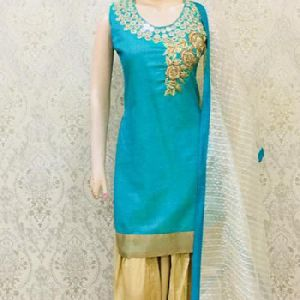 Ladies Latest Stylish Silk Salwar Kameez Suits