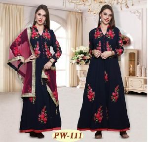 Long Anarkali Embroidered Suits