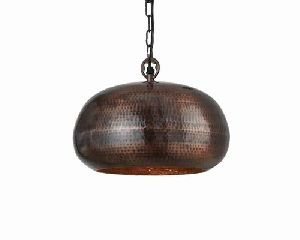 Antique Bronze Hammered Ceiling Pendant Light