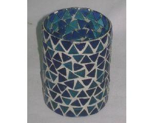 Colored Glass Mosaic Votive