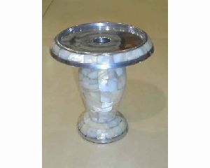 Metal & Mop Candle Stand