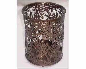 Tree Leaf Designer Hurricane Candle Holder