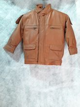 Designer Genuine Leather Kids Jacket