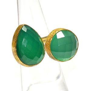 eurasia Handmade Lapis Lazuli Pearl Green Zircon Gemstone Gold Plated Earrings