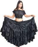 Black Polyester Cheap Flamenco Dance Costumes