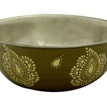 Hand Painted Stainless Steel Dinnerware Bowl