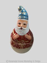 Paper Mache And Clay Santa Claus Dancing Doll