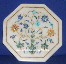 Handmade Marble Inlay Plate Full Round Inlay Work