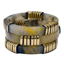 Fashion Accessories Resin Bangles With Brass Work