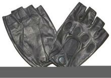 Biker Gloves In Leather
