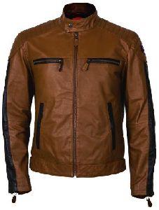 Biker Lite Long Sleeve Round Neck Leather