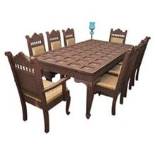 Antique Hand Carved Luxury Wooden Dining Set