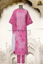 Indian Designer Lucknow Chikan Casual Wear Cotton Unstitched Suit
