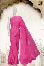 Luckhnawi Chikankari Hand Embroidered Cotton Saree
