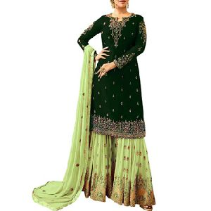 Pakistani Indian Georgette Sharara Salwar Suit