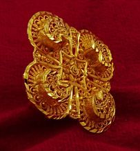 Gold Plated Indian Women Adjustable Ring