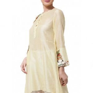 Pale Yellow Short Kurta