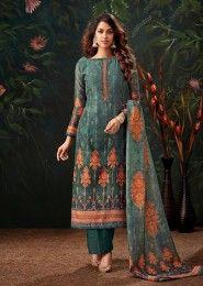 Chanderi Silk Digital Printed Palazzo Salwar Suits