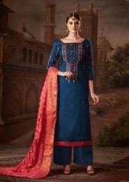 Jam Silk Palazzo Salwar Suits