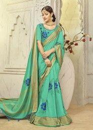 Muslin Silk Resham Work Designer Sarees