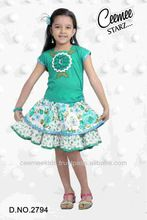 Best Design And Quality Beautiful Cotton Girls Skirt Top
