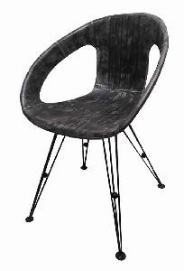 Industrial Comfortable Leather Round Seat Leisure Chair