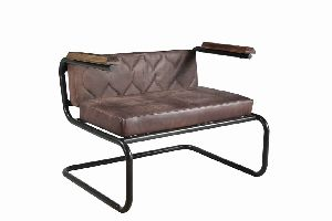 Metal Iron Frame Industrial Dining Chair