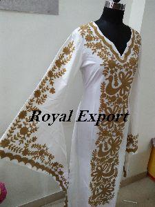 Butterfly Embroidered Dress Kaftan