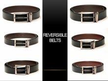 Designer Reversible Italian Leather Belts