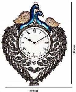 handicrafts Painted Imperial Style Wooden Wall Clock Art Decore