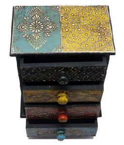 Rajasthani Handicrafts Wooden 4 Drawer Jewellery Box