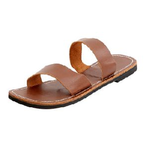 Handmade Genuine Leather Flat Slipper For Womens