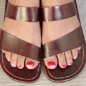 Women Genuine Leather Vintage Flat Sandal