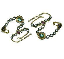 Kundan Gold Plated Haath Phool Jewelry