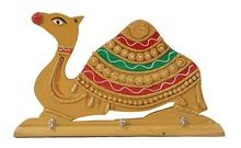 Camel Handmade Painted Key Ring Holder