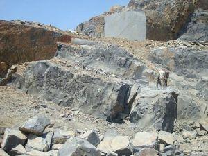 Black And Color Granite Rough Block