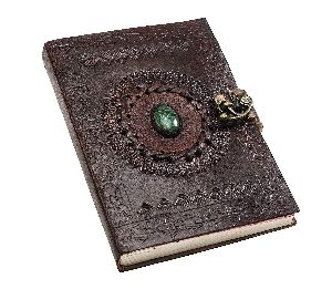 Genuine Leather Engraved Handmade Paper Diary