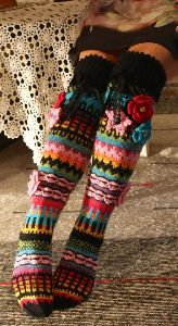 Hand Knitted Woolen Socks