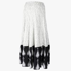 Black And White Printed Tyer Skirt