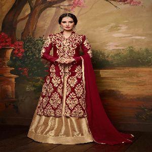 Panihari Premium - 19004 Pink Color Silk Embroidered Lehenga