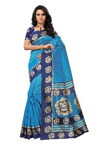 Heavy Kalamkari Art Silk Saree
